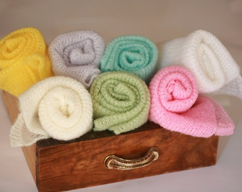Newborn photography wrap Mohair baby wrap Knit wrap Photography props newborn Knit baby blanket Baby cocoon