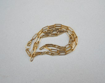Vintage necklace chunky cable chain  1970s vintage chain in gold tone metal FREE USA SHIPPING