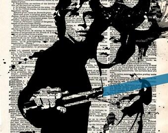 Star Wars Luke Skywalker Antique Dictionary Print