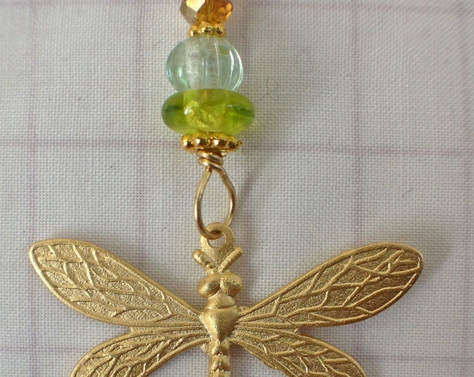 Golden dragonfly necklace,Dragonfly,Bridesmaid gift,Perfect for Mother's Day,Garden Party Necklace,FlyingThings Necklace,Goden Beauty Jewels
