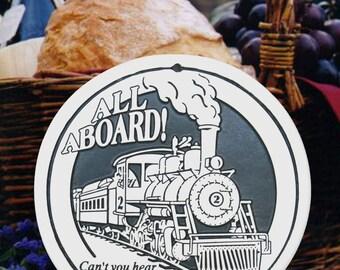 Train Porcelain Bread and Bun Warmer
