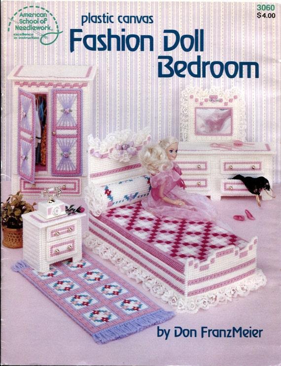 Fashion Doll Bedroom Plastic Canvas Pattern By Onceuponanheirloom