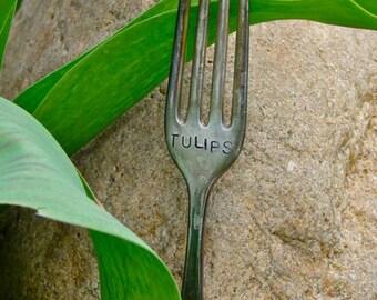 Tulip-Vintage Silverware Garden Marker