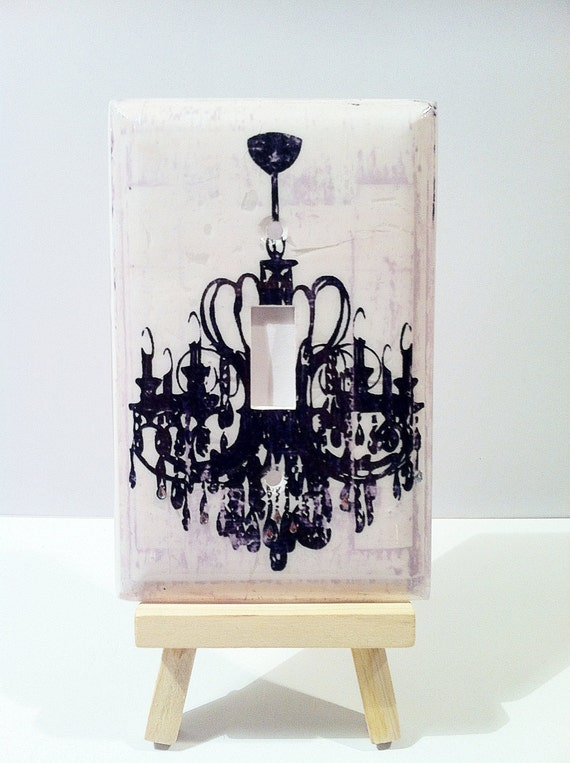 Chandelier Wall Light With Switch : Decorative Chandelier Light Switch Cover by ComfortZoneCentral