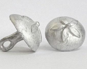 Replica Tudor Pewter Flower Dome Buttons for Renaissance/Elizabethan Reenactment - Large