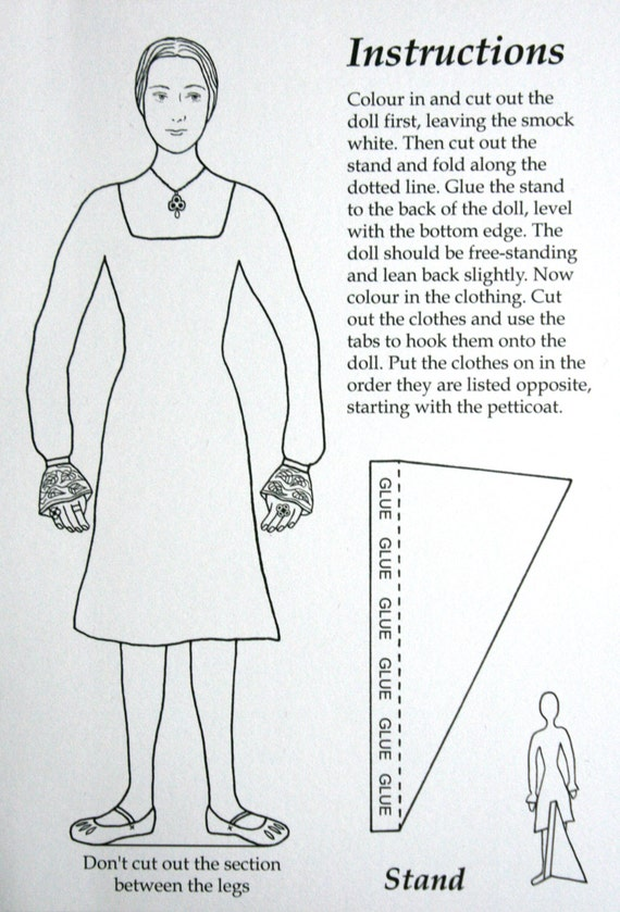 Tudor Lady Paper Doll