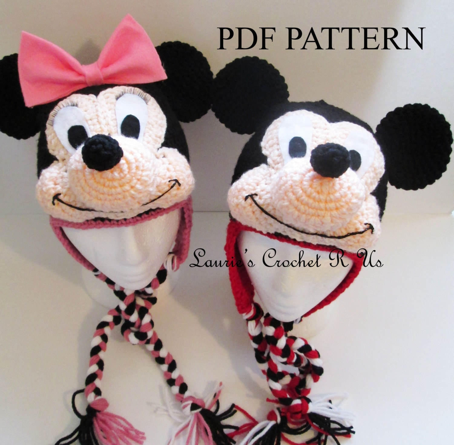 Free Crochet Patterns For Disney Hats : Crochet Mouse Hat Pattern Girl & Boy Mouse by ...