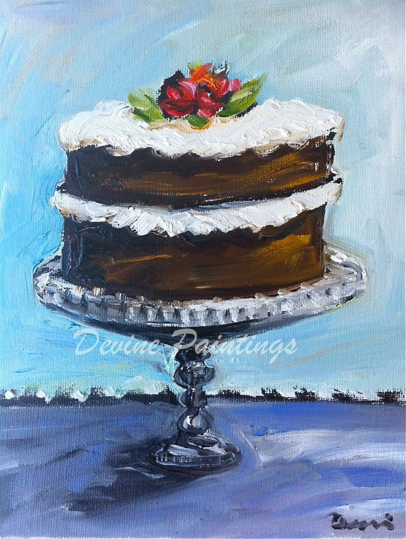 Cake Similar Artists : Items similar to Whimsical Layer Cake Artist Print on Etsy
