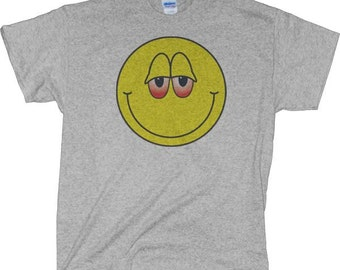 Dazed And Confused Smiley Face Stoner happy face t shirtDazed And Confused Smiley Face