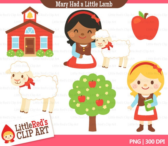 Mary Had a Little Lamb Clip Art and Digital by ...
