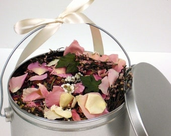 BRIDAL HEATHER™ Flower Confetti, eco friendly toss of romantic heather, rosemary, lavender and pink petals, for fairy tale endings. . .