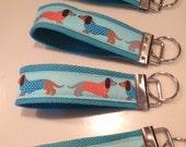 Doxie Ribbon KEY Fob - Key Chain Wristlet... fundraiser for DREAM Dachshund Rescue