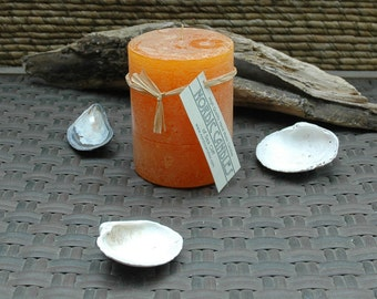 3 x 4 - Orange Rustic Pillar Candle