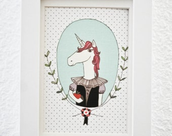Unicorn Postcard. Postcard - Sir Unicorn-