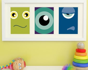 Monster Prints, Monster Art, Childrens Wall Art, Childrens Room Decor, Kids Art
