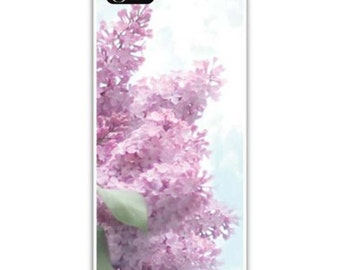 Iphone Case - Fine Art Photography, iPhone 4/4s, iPhone 5/5s, Iphone 6, Lilacs, Shabby Chic lavender, Blue Sky and White Clouds