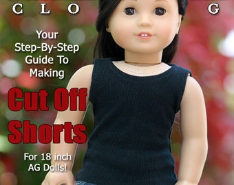 Pixie Faire Liberty Jane Cut Off Shorts Doll Clothes Pattern for 18 inch American Girl Dolls - PDF