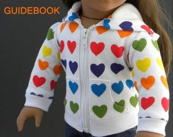 Pixie Faire Lemieux hoodie Doll Clothes Pattern for 18 inch American Girl Dolls - PDF