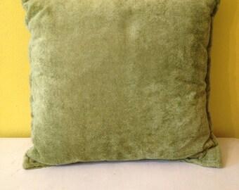 Retro Green Throw Pillow (Set of 2)
