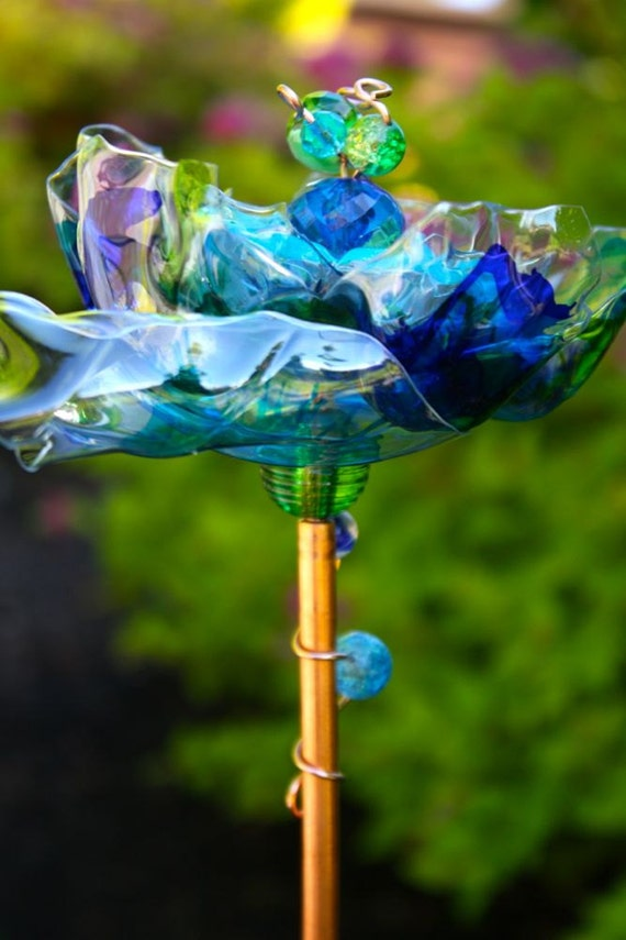 Peacock wedding earth day blue garden art yard decor 3 - Outdoor peacock decorations ...