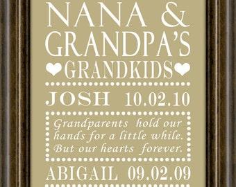 Grandparents Day - Gift For Mom - Gift For Grandparents, Gifts for Grandparents ANY COLOR, Gifts for Grandparents,  Gift,  Print