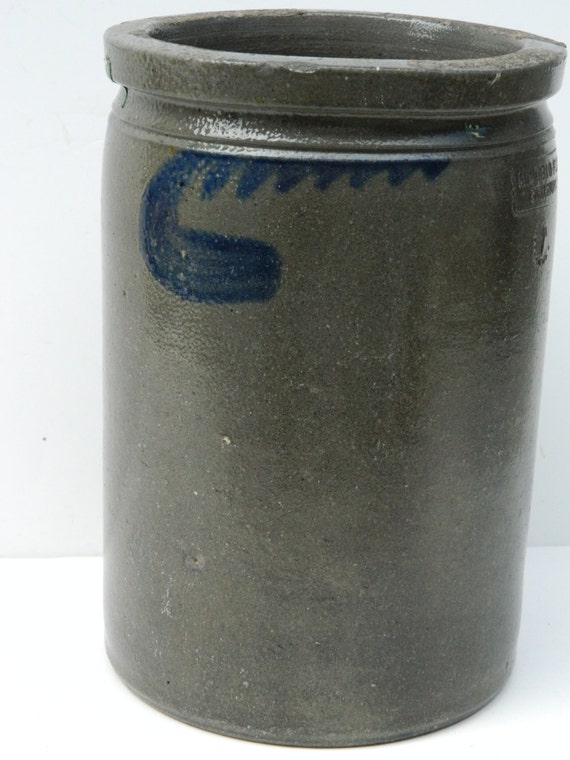 Antique Pottery Crock By Miller Amp Fleet Strasburg Va