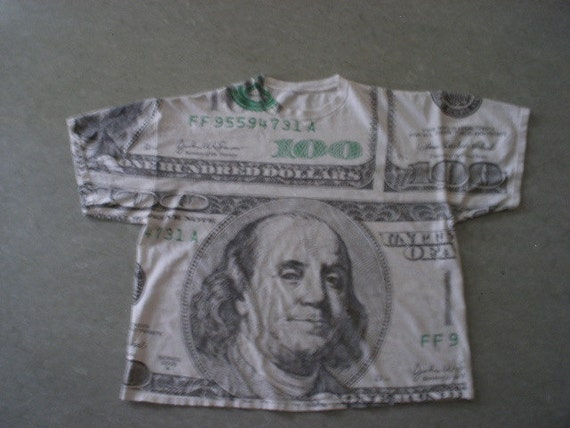 90 39 S Grunge Oversize One Hundred Dollar Bill Hip Hop
