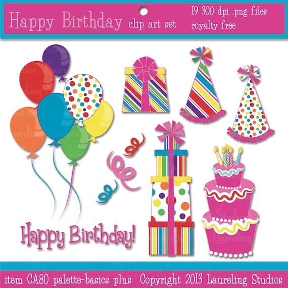 Birthday Cake Modern Art : birthday clip art birthday cake clipart by LaurelingStudios