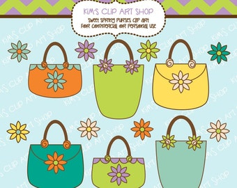 Sweet Spring Purses Clip Art Set for Commercial and Personal Use