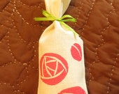 Block Printed Pink Mackintosh Rose Sachet filled with French Lavender