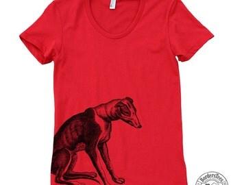 Women's GREYHOUND DOG American Apparel Poly-Cotton Tee