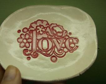 Flowery 1970s Love Dish