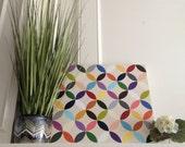 Multicolor Geometric Pattern Original Acrylic on Beige