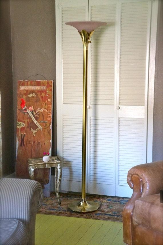 Vintage Stiffel Floor Lamp Mid Century Brass Stiffel Torchiere
