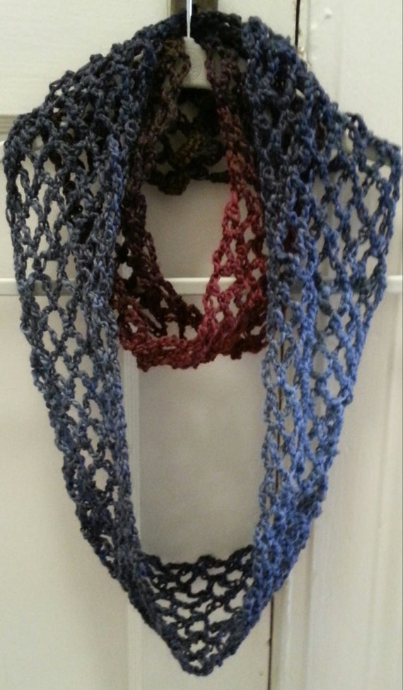 Crochet Pattern For Lacy Infinity Scarf : Crochet Pattern Scarf Lace Infinity SALE by APieceOfCrochet