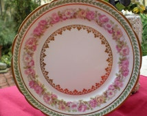 Half Price Haviland Sale - Antique Haviland Limoges Plate - Roses & Gold - Antique Collectible - Tea Party - Wedding Gift - Limoges China -R
