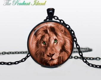 LION NECKLACE lion pendant lionje welry art  jewelry for men for women animal pendant