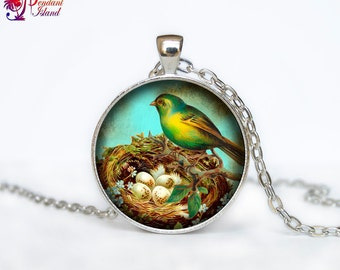 Mothers Day Necklace Mothers day jewelry Mothers day  pendant Nest Necklace  Mom Bird Necklace Mama Sister Friend Necklace