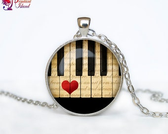 Piano necklace Piano pendant Piano jewelry Music necklace Hipster jewelry