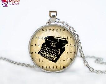Old Typewriter necklace Old Typewriter pendant Old Typewriter jewelry