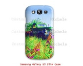 Vintage Green Chevy Truck in a field of flowers, Retro Chevy Truck Samsung Galaxy S3, iPhone 4/4s Case, iPhone 5 Case, Slim Wrap Around Case