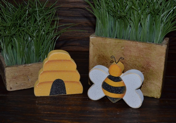 Bumble Bee Accent Pieces Personalized Wood Blocks Love Bee
