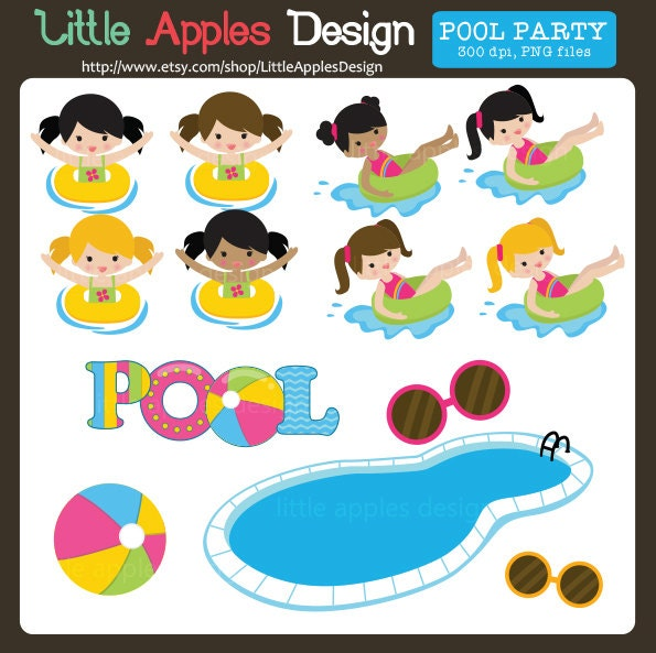 Pool Clip Art Pool Clipart Pool Party Clip Art Pool