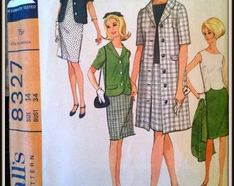 McCall's 8327  Vintage 1960' Misses' Separates  Size 14  Uncut