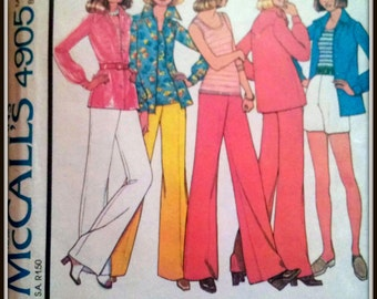 McCall's 4905 Misses' Shirt, Top And Pants Or Shorts  Size  10