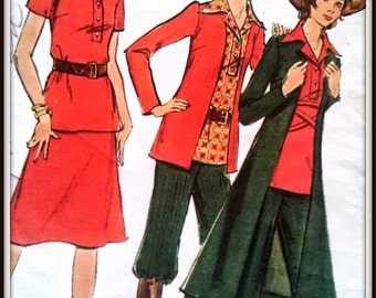 Butterick  6412   Misses' Jacket, Shirt, Skirt, Pants & Nickers  Size  14