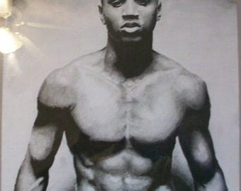 Trey Songz Drawing in Charcoal