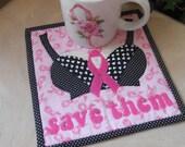 MUG RUG PATTERN  Breast Cancer Awareness  Mug Rug Pattern (Instant Digital Download)