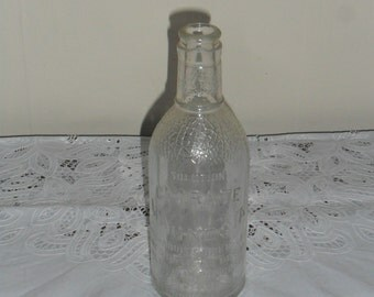 Vintage Clear Citrate Magnesia Bottle