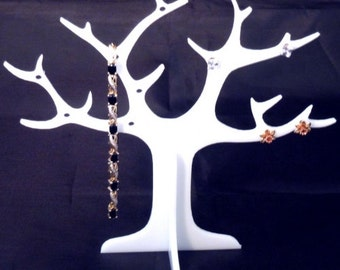 White Acrylic Ring Tree (for earrings and rings)